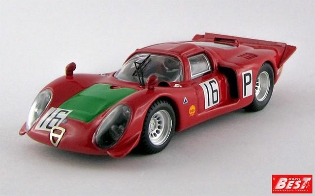 BEST9402 - ALFA ROMEO 33.2 - Nurburgring 1968 - Giunti / Galli