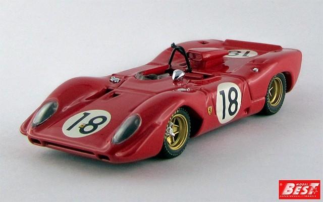 BEST9493 - FERRARI 312 P SPYDER - Le Mans Test 1969 - Brambilla / Schetty