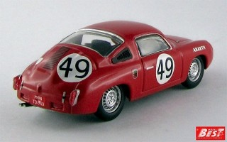 BEST9509 - FIAT ABARTH 850 S - Le Mans 1960 - Spychier / Feret