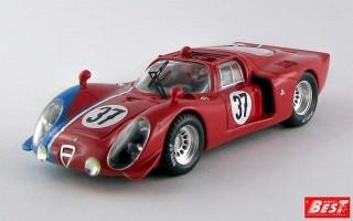 BEST9551 - ALFA ROMEO 33.2 - Test Le Mans 1968 - Gosselin / Trosch