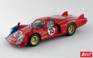 BEST9612 - ALFA ROMEO 33.2 CODA LUNGA - Le Mans Test 1969 - Pilette / Slotemaker