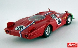 BEST9632 - ALFA ROMEO 33.2 - 1000 Km di Monza 1968 - Trosch / Gosselin