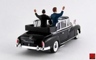RIO4264/P - MERCEDES 300 L - 1963 - Adenauer e Kennedy