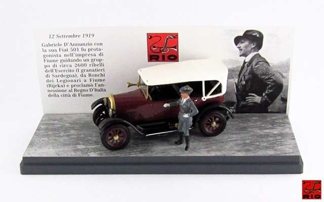 RIO4282/P - FIAT 501 - 1919 - Gabriele D'Annunzio