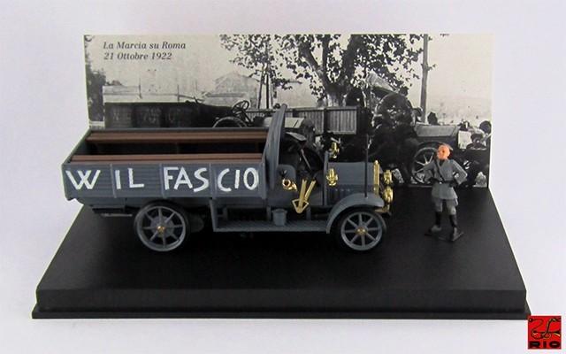 RIO4349/P - FIAT 18 BL - 1922 - Marcia su Roma