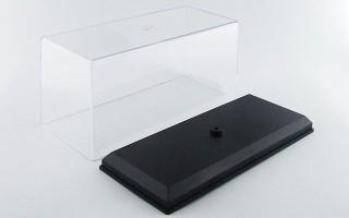 Plastic showcase 13x6xh6.5 cm