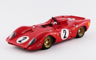 BEST9221 - FERRARI 312 P SPYDER - Monza 1969 - Rodriguez / Schetty