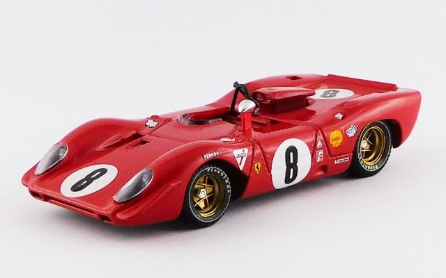BEST9243 - FERRARI 312 P SPYDER - 1000 Km di SPA 1969 - Rodriguez / Piper