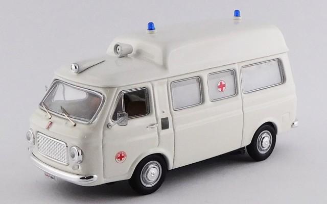 RIO4521 - FIAT 238 - Ambulanza/Ambulance 1970 - Bianco/white - Tetto alto/Hight roof
