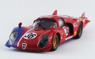 BEST9351 - ALFA ROMEO 33.2 CODA LUNGA - Le Mans 1969 - Pilette / Slotemaker