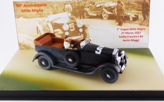ISOTTA FRASCHINI 8A TORPEDO - Mille Miglia 1927 - Maggi - Limited 90 pieces + figure