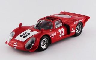 BEST9667 ALFA ROMEO 33.2 SPYDER - 3 Hours Rio de Janeiro 1969 - Carlos Pace - WINNER
