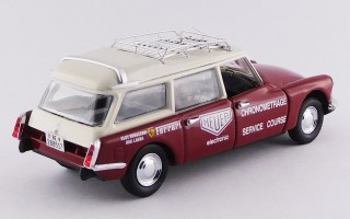 RIO4542 CITROEN DS BREAK - Ferrari Chronometrage Service - Rosso scuro e panna /Dark red and cream