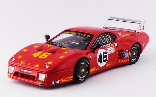 BEST9327 - FERRARI 512 BB LM 3 Serie - Le Mans 1981 - Dieudonne / Xhenceval / Libert