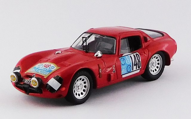 BEST9705 - ALFA ROMEO TZ2 - Pergusa Jolly Hotel Rally 1965 - De Adamich / Lini