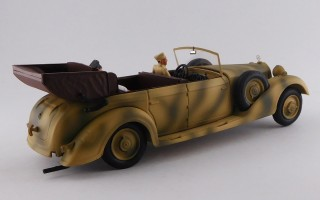 RIO4575/P - MERCEDES 770 - Africa Korps 1941- Rommel and driver - Mimetic car