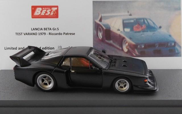 BEST9738 - LANCIA BETA MONTECARLO - Lancia Beta Gr. 5 test - Varano 1979 - Riccardo Patrese - With figure