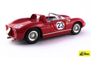 ART136 - FERRARI 250 P Rosso - Le Mans 1963 - Surtees / Mairesse