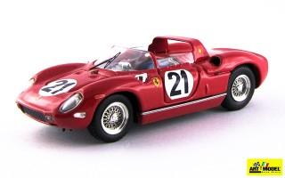 ART139 - FERRARI 250 P Rosso - Le Mans 1963 - Bandini / Scarfiotti