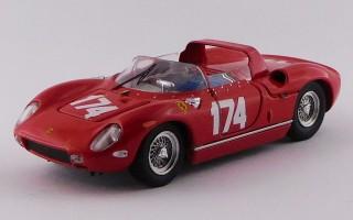 ART129 - FERRARI 250 P Rosso - Targa Florio 1963 - Surtees / Parkes