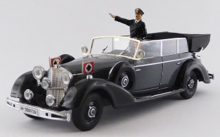 RIO4650/P - MERCEDES-BENZ 770K - 1942 - Grey / Black - With Hitler and driver figures