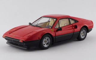 BEST9809 - FERRARI 308 GTB - 1977 - Rosso / Nero - Red / Black