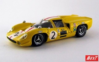 BEST9157 - LOLA T 70 COUPE' - Brands Hatch 1968 - Bonnier / Axelsson