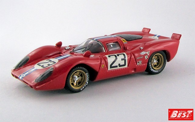 BEST9165 - FERRARI 312 P COUPE' - Daytona 1970 - Piper / Adamowicz