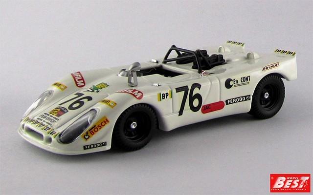 BEST9215 - PORSCHE 908-02 FLUNDER - Le Mans 1972 - Lagniez / Touroul