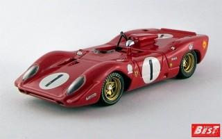 BEST9227 - FERRARI 312 P SPYDER - Monza 1969 - Andretti / Amon