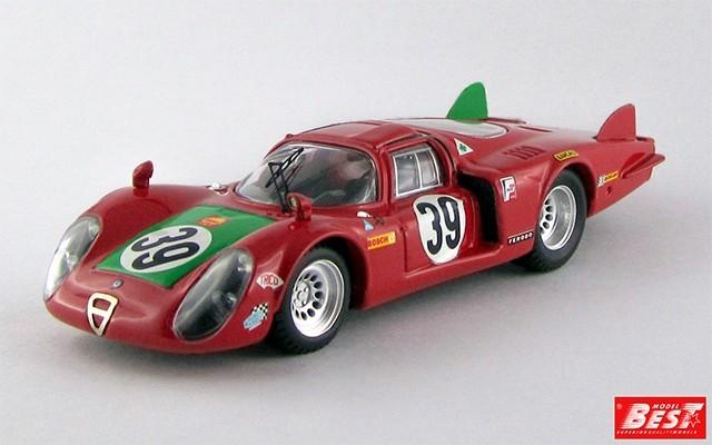 BEST9254 - ALFA ROMEO 33.2 CODA LUNGA - Le Mans 1968 - Giunti / Galli