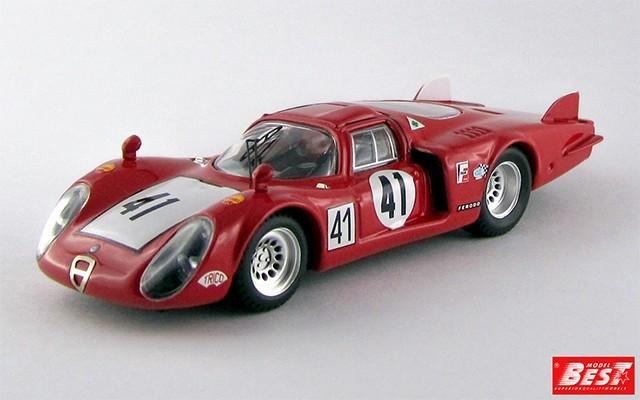 BEST9272 - ALFA ROMEO 33.2 - Le Mans 1968 - Baghetti / Vaccarella