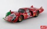 BEST9284 - ALFA ROMEO 33.2 CODA LUNGA - Le Mans 1969 - Grosselin / Burgoignio