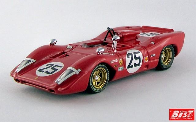 BEST9298 - FERRARI 312 P SPYDER - Sebring 1969 - Andretti / Amon