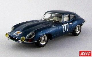 BEST9342 - JAGUAR E TYPE COUPE' - Tour de France 1963 - Cardi / Klukaszewski